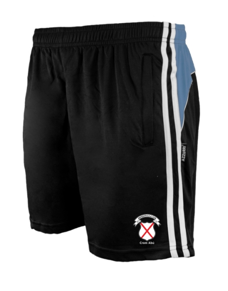 Picture of maynooth kids leisure shorts Black-Grey-White