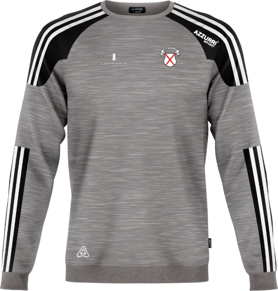 Picture of maynooth crew neck Grey Melange-Black-White
