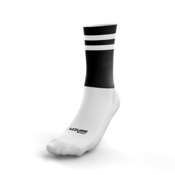 Picture of GALWAY MAGPIES KIDS MIDI SOCKS Black-White