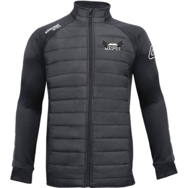 Picture of GALWAY MAGPIES PADDED JACKET ADULTS Black-Black