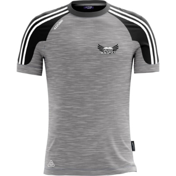 Picture of GALWAY MAGPIES T-SHIRT Grey Melange-Black-White