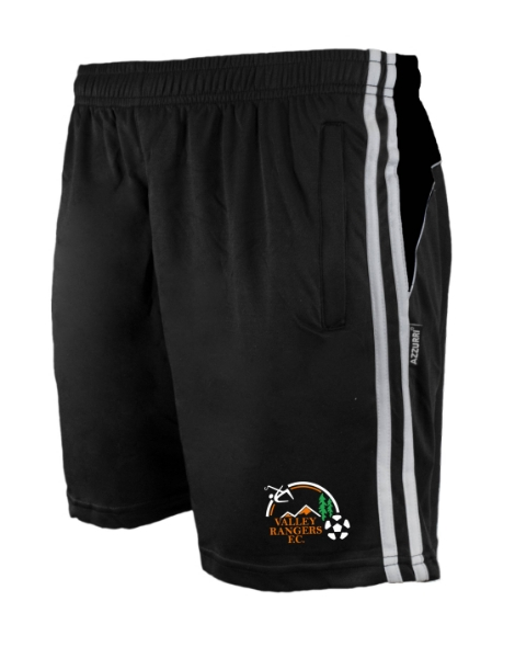 Picture of VALLEY RANGERS Brooklyn Leisure Shorts Black-Black-White