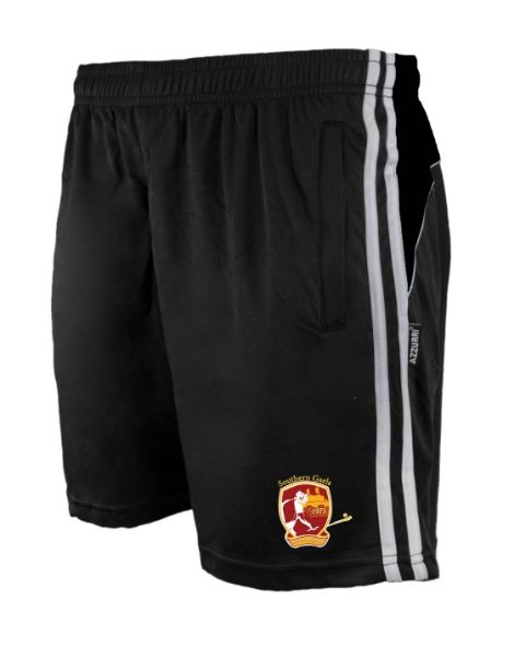Picture of SOUTHERN GAELS Brooklyn Leisure Shorts Black-Black-White