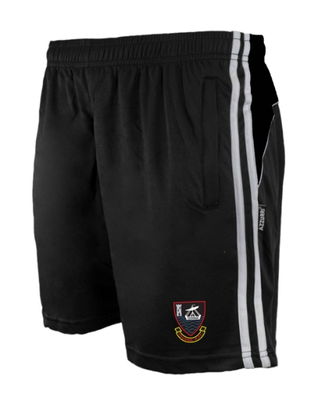 Picture of YOUGHAL RFC Brooklyn Leisure Shorts Black-Black-White