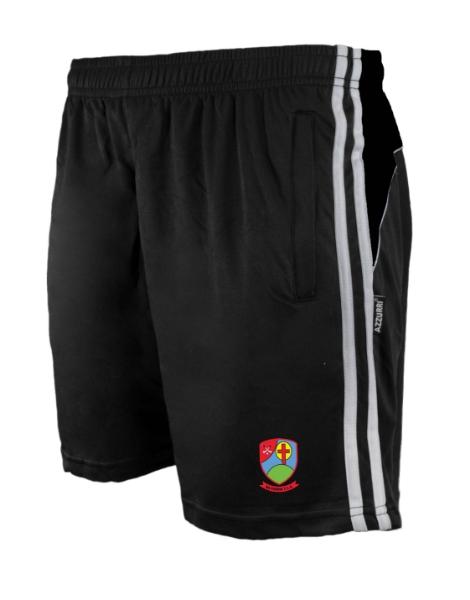 Picture of Na Fianna Hurling CLub Brooklyn Leisure Shorts Black-Black-White