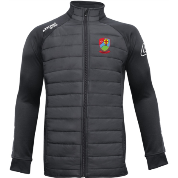Picture of Na Fianna Hurling Club adults Padded Jacket Black-Black