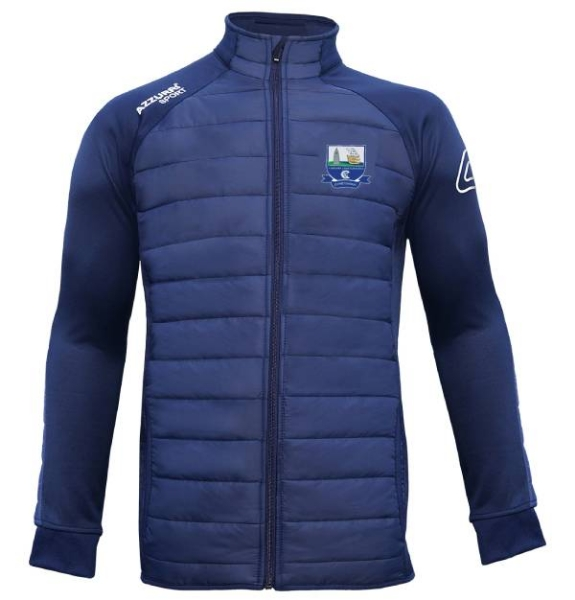 Picture of waterford camogie adults Padded Jacket Navy-Navy