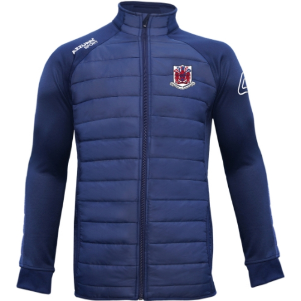 Picture of courcey rovers adults Padded Jacket Navy-Navy