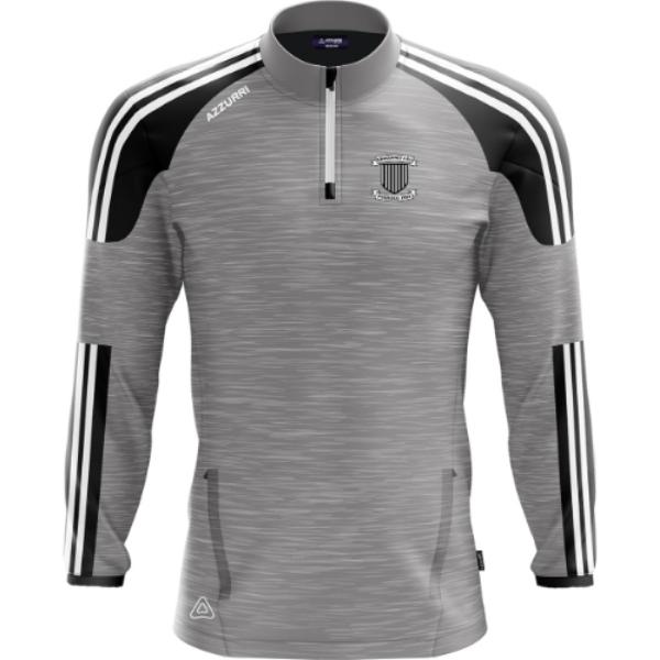 Picture of KNOCKAINEY FC Brooklyn Half Zip Grey Melange-Black-White