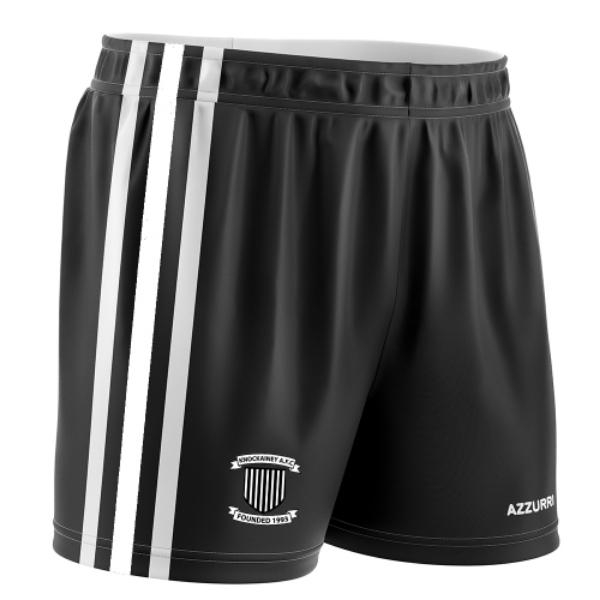 Picture of knockainey fc Soccer Shorts Black-White-Black