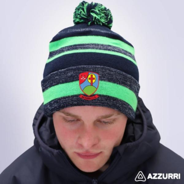 Picture of na fianna hurling club Bobble Hat Navy Melange-Neon Green-Navy