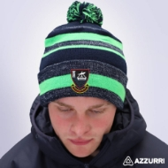 Picture of youghal rfc Bobble Hat Navy Melange-Neon Green-Navy
