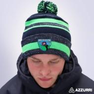 Picture of st brigids lgfa Bobble Hat Navy Melange-Neon Green-Navy