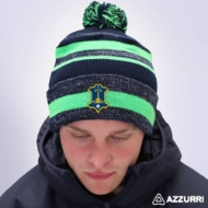 Picture of portlaw gaa Bobble Hat Navy Melange-Neon Green-Navy