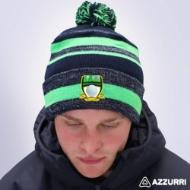 Picture of milmore gaels Bobble Hat Navy Melange-Neon Green-Navy