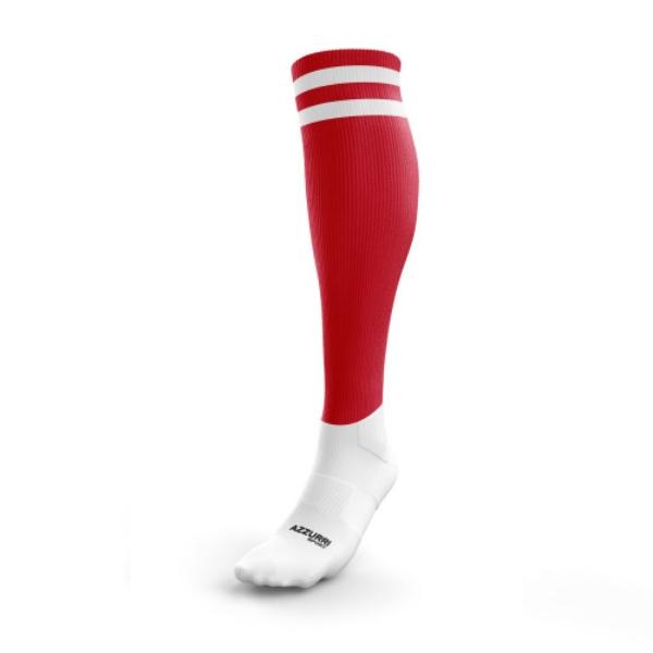 Picture of VALLEYMOUNT KGFA KIDS FULL SOCKS Red-White