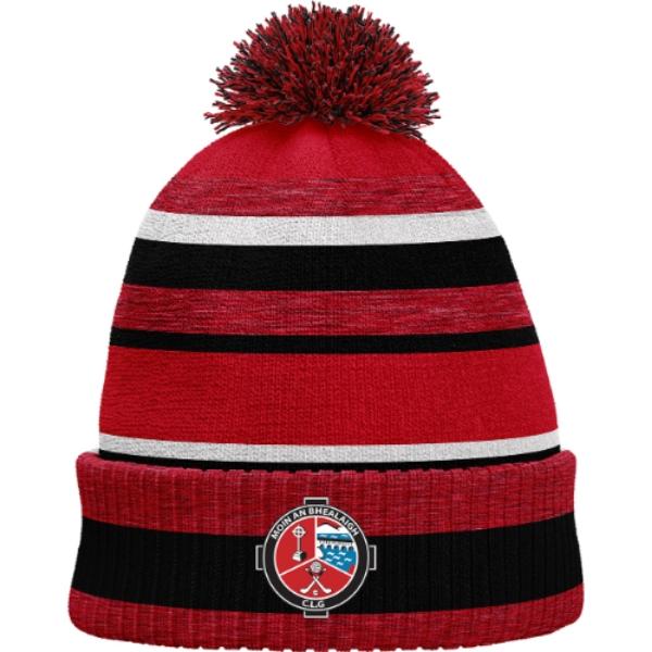 Picture of BH080 Bobble Hat Red Melange-Black-White