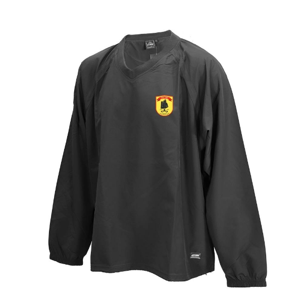 Picture of dunhill gaa Ripstop V Neck Rugger Black