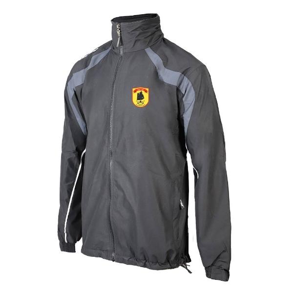 Picture of Dunhill GAA Brosna Rain Jacket Black-GunmetalGrey-White