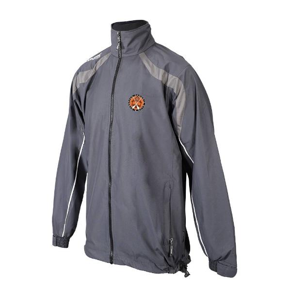Picture of straffan camogie Brosna Rain Jacket Gunmetal Grey-Slate Grey-White