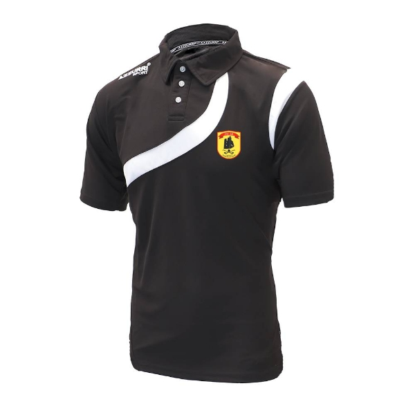 Picture of dunhill gaa Polo Shirt Black-Black-White