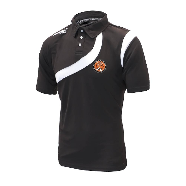 Picture of Straffan Camogie Polo Shirt - adult Black-Black-White
