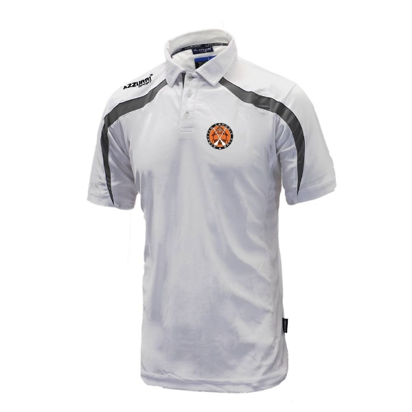 Picture of Straffan Camogie Classic Poloshirt White-Grey