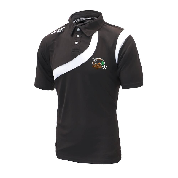 Picture of Valley Rangers Polo Shirt Black-Black-White