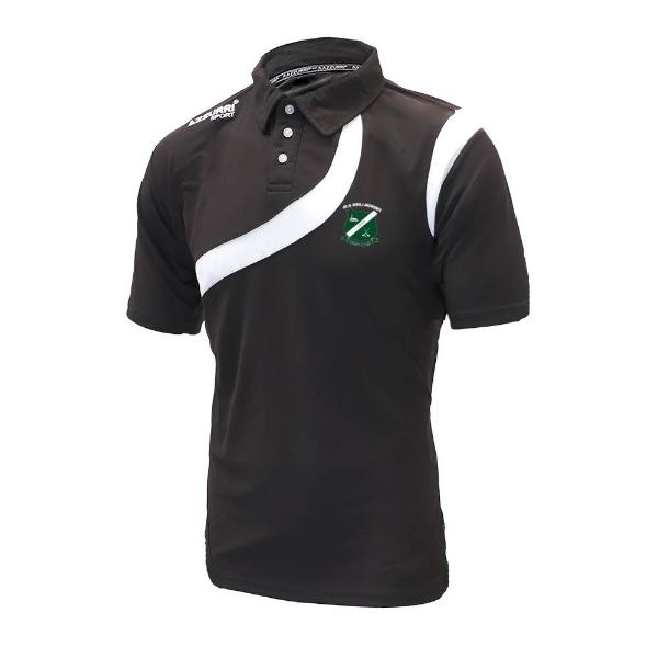 Picture of kilcotton gaa polo shirt Black-Black-White