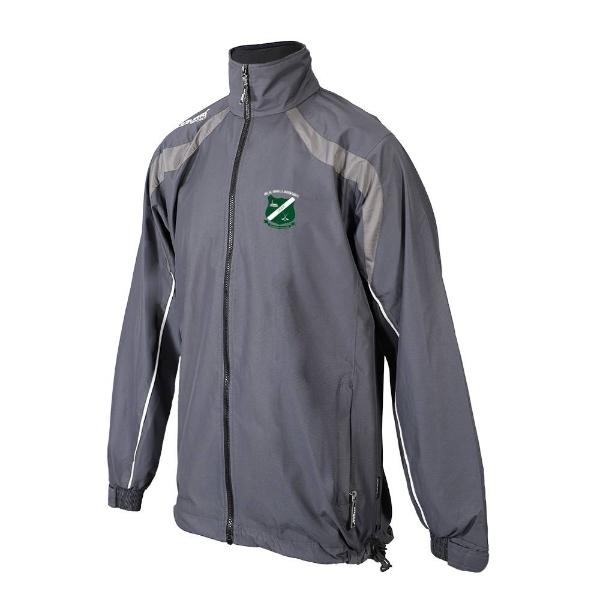 Picture of kilcotton gaa Brosna Rain Jacket Gunmetal Grey-Slate Grey-White