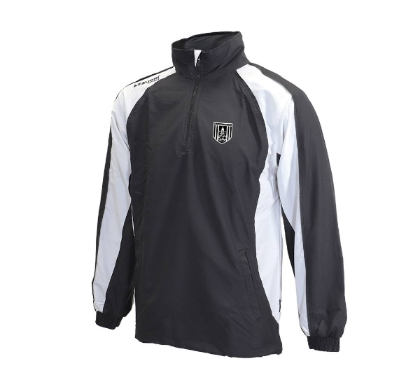 Picture of dunmore town afc TJ070 TrackSuit Top Black-White-Black