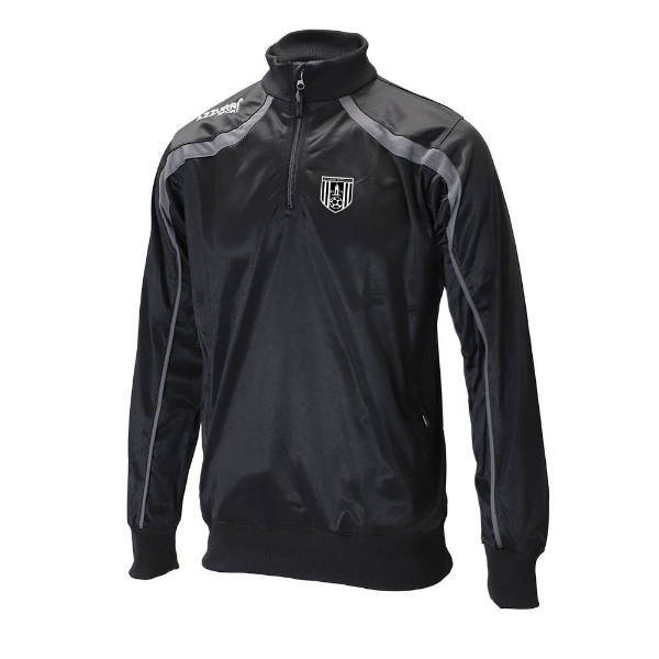 Picture of dunmore town afc 1-4 zip top-Adult Black-Slate Grey