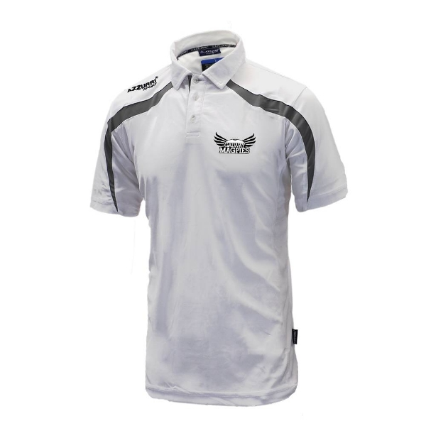 Picture of GALWAY MAGPIES Classic Poloshirt White-Grey