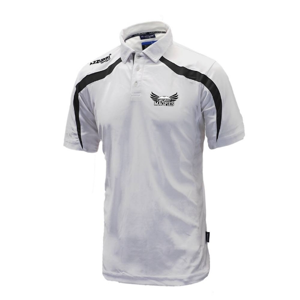 Picture of GALWAY MAGPIES Classic Poloshirt White-Black