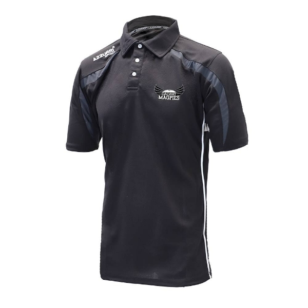 Picture of GALWAY MAGPIES Classic Poloshirt Black-Grey-White