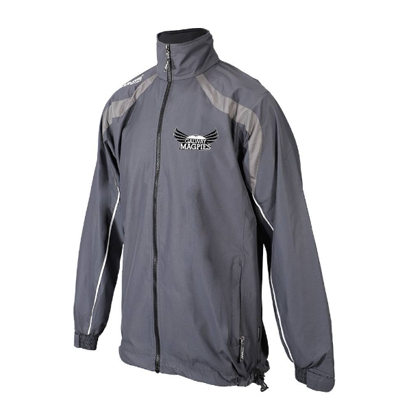 Picture of GALWAY MAGPIES Brosna Rain Jacket Gunmetal Grey-Slate Grey-White