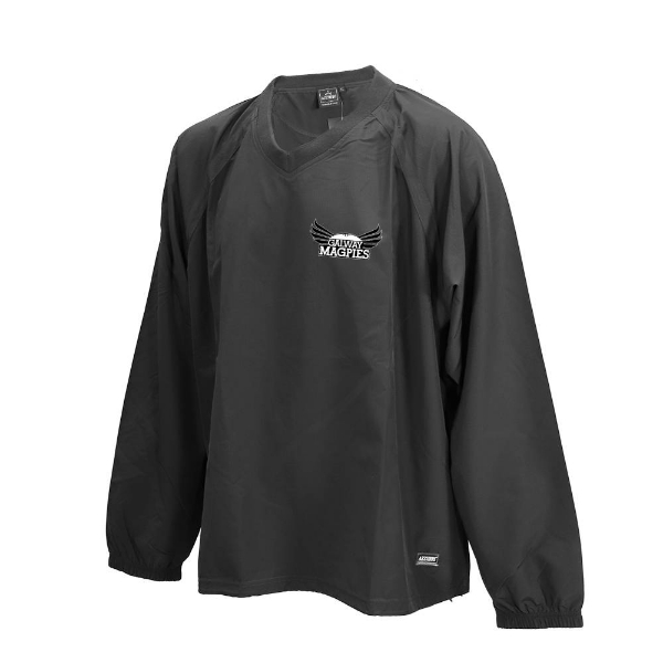 Picture of GALWAY MAGPIES Ripstop V Neck rugger Black
