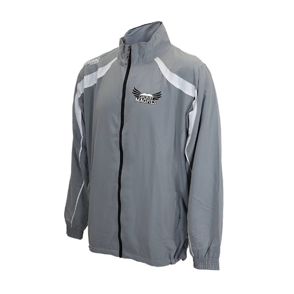Picture of GALWAY MAGPIES tracksuit jacket - Adult Grey-White