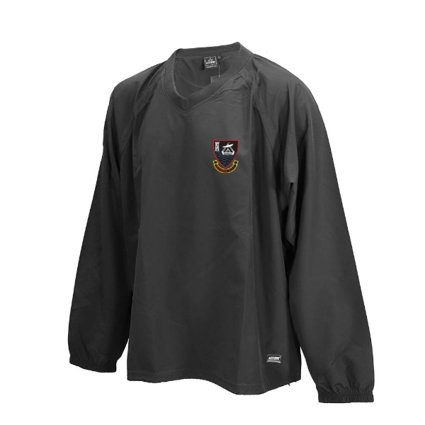Picture of youghal rfc Ripstop V Neck rugger Black