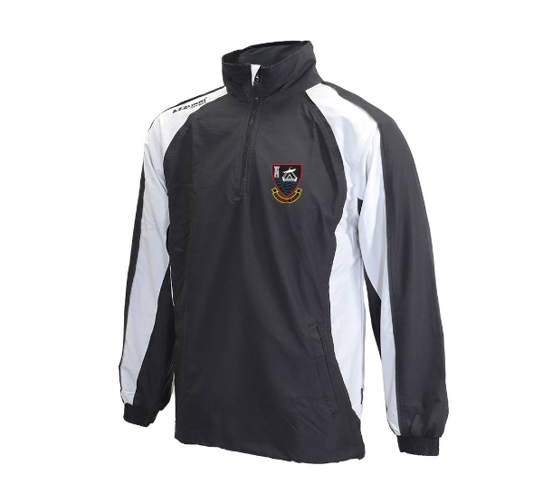 Picture of youghal rfc tracksuit top - adults Black-White-Black