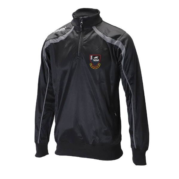 Picture of youghal rfc half zip top Black-Slate Grey