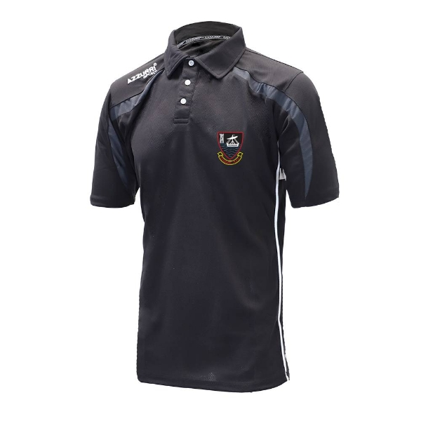 Picture of youghal rfc Classic Poloshirt Black-Grey-White