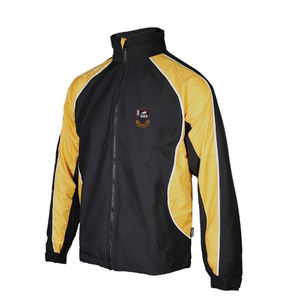 Picture of youghal rfc Barrow Rain Jacket Black-Gold-White