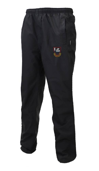 Picture of youghal rfc waterproof tracksuit bottoms Black