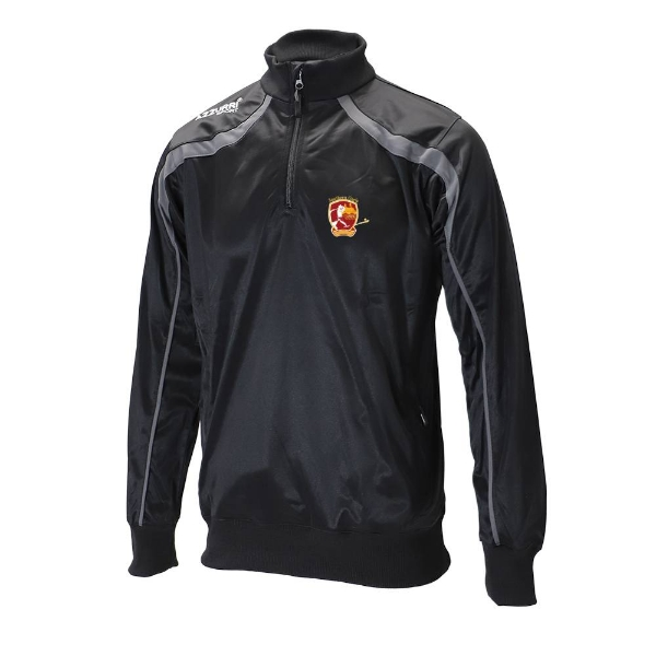 Picture of southern gaels TRACK HALF-ZIP-Adult Black-Slate Grey