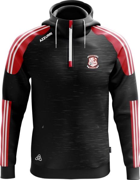 Picture of BOHEMIANS FC BROOKLYN HOODIE Black Melange-Red-White