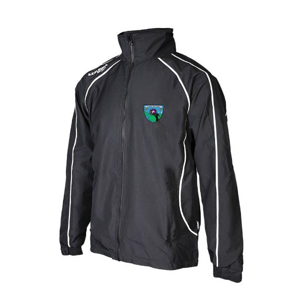 Picture of St Brigids LGFA Barrow Rain Jacket Black-Black-White