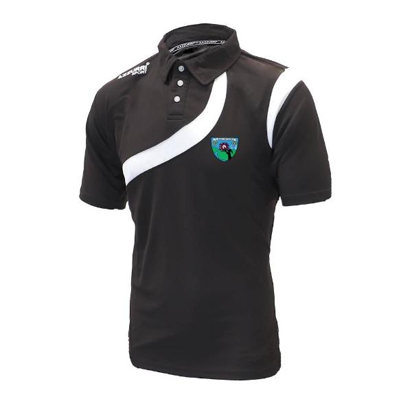 Picture of St Brigids LGFA Turin Polo Shirt Black-Black-White