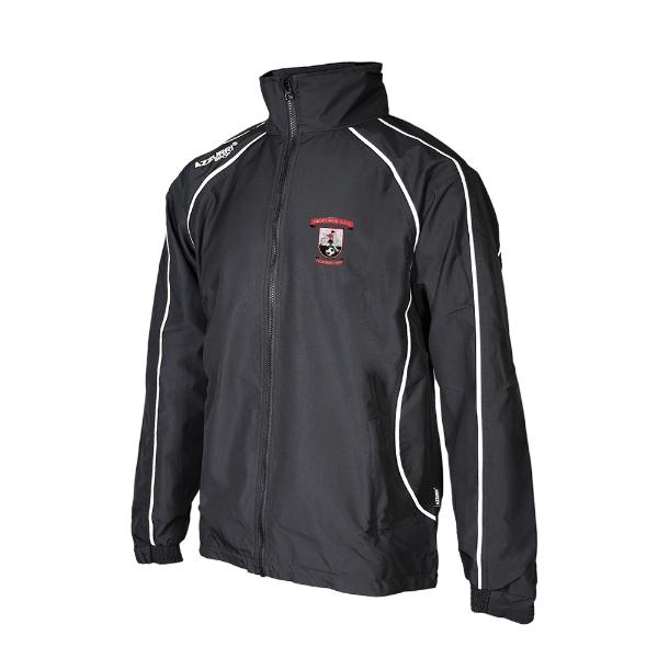 Picture of Abbeyside AFC Barrow Rain Jacket Black-Black-White
