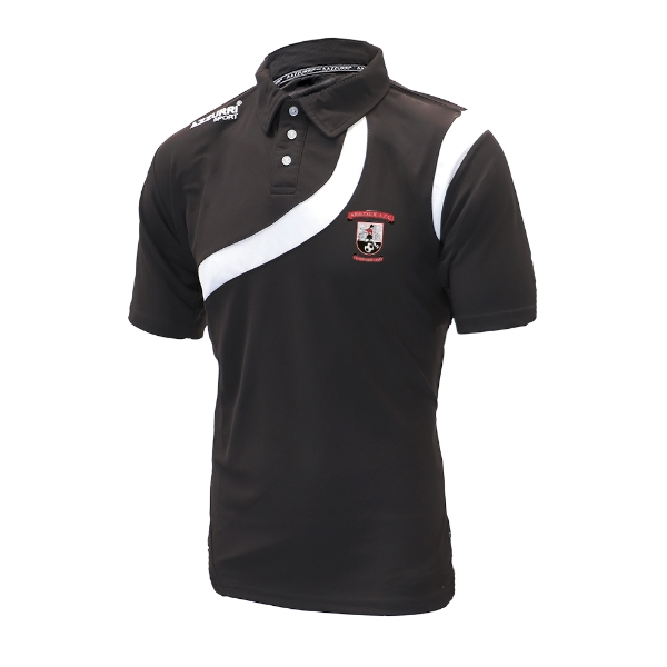 Picture of Fr Griffins Éire Óg Polo Shirt Black-Black-White